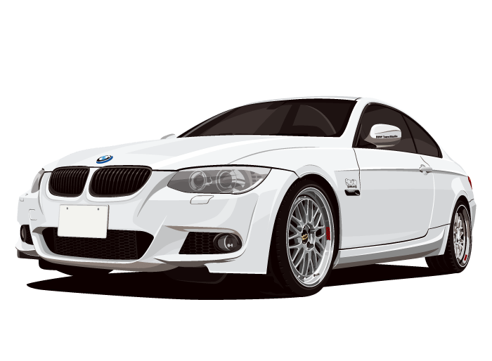 BMW323(白)のイラスト